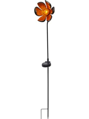 Best Season Solarna lampa ogrodowa LED w kolorze czarno-pomarańczowym - wys. 84 cm