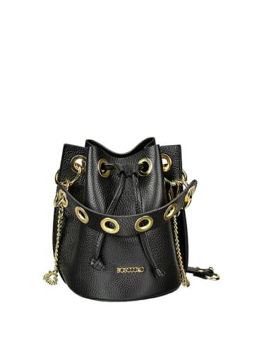 BOSCCOLO Skórzana torebka w kolorze czarnym - (S)16 x (W)20 x (G)16 cm
