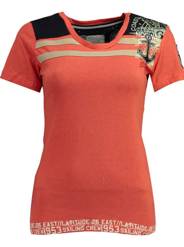 """Geographical Norway Shirt """"Jrubis"""" in Orange"""