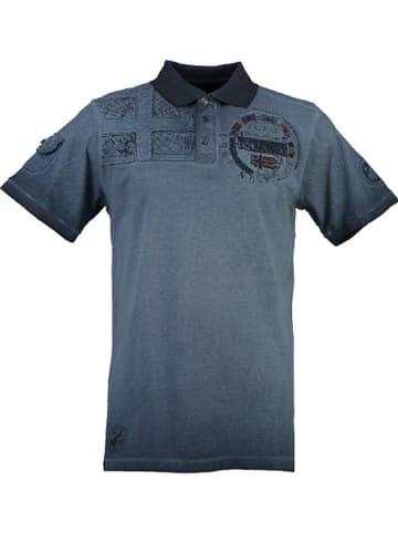 """Geographical Norway Koszulka polo """"Kinflat"""" w kolorze granatowym"""