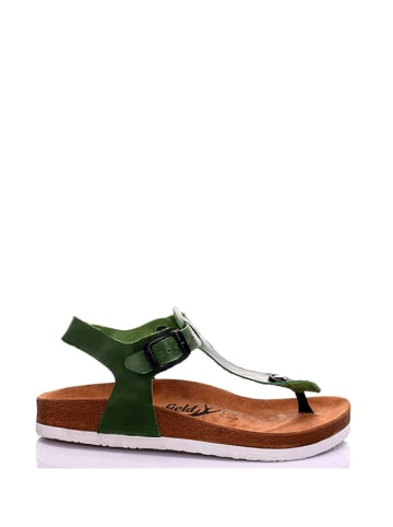 Moosefield Leder-Sandalen in Grün