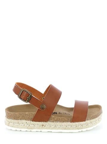 """BAYTON Leren sandalen """"Gaceo"""" lichtbruin"""