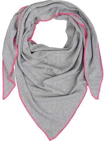 Zwillingsherz Tuch in Hellgrau/ Pink - (L) 150 x (B) 120 cm
