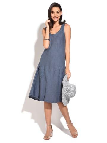 Le Jardin du Lin Linnen jurk blauw