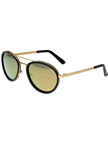 """Breed Damskie okulary przeciwsłoneczne """"Gemini"""" w kolorze czarno-złotym"""