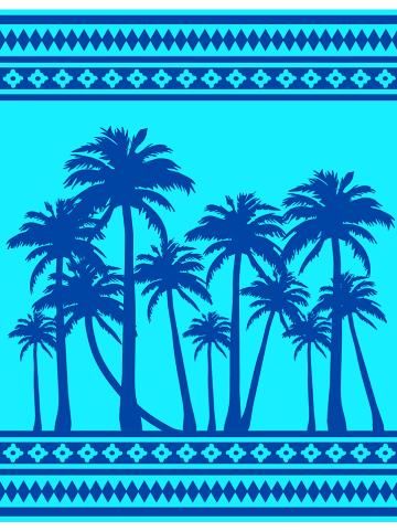 "Le Comptoir de la Plage Strandlaken ""Clarita"" turquoise/blauw - (L)180 x (B)140 cm"