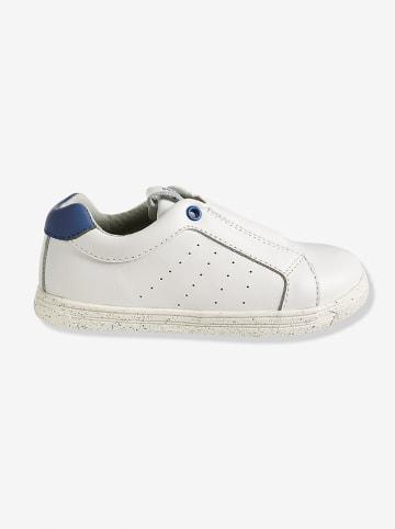 Vertbaudet Leren sneakers wit