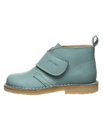 POM POM Leren boots mintgroen