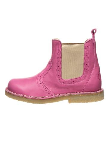 POM POM Leren chelseaboots roze/beige