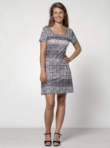KÉAWA Sukienka w kolorze czarno-białym