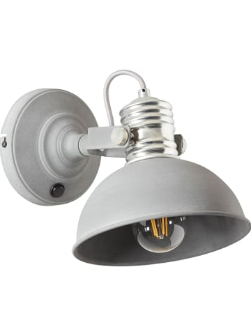 "Brilliant Wandlamp ""Frieda"" grijs - (B)20 x (H)21 cm"