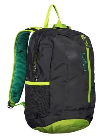 """CMP Plecak """"Rebel"""" w kolorze czarno-zielonym - 20 x 36 x 15 cm"""