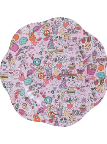 Overbeck and Friends Talerz w kolorze różowym ze wzorem - Ø 22 cm