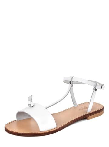 SUMMERY Leren sandalen wit