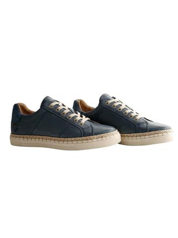 """TRAVELIN' Leren sneakers """"Moulins"""" donkerblauw"""