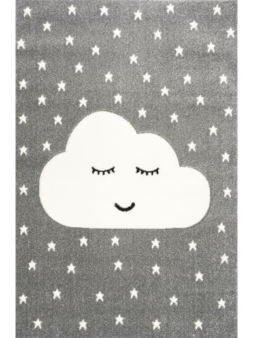 """Kids love rugs Dywan """"Smiley Cloud"""" w kolorze szaro-białym"""