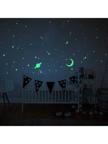 """Ambiance Tatuaż ścienny """"Glow in the Dark - Saturn, Moon and Stars"""""""