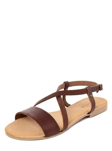 Lionellaeffe Skórzane sandały w kolorze brązowym