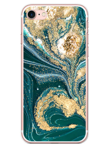 SmartCase Case für iPhone 7/8/SE 2020 in Petrol/ Gold