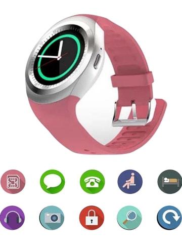 SmartCase Smartwatch in Rosa/ Silber/ Schwarz