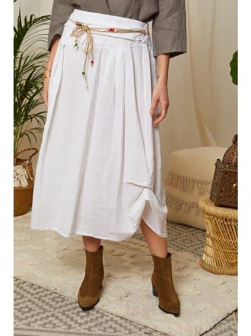 Lin Passion Lniana spódnica w kolorze białym