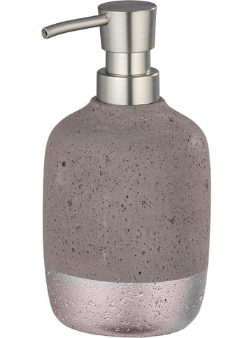 """Wenko Seifenspender """"Beton"""" in Grau/ Rosa - 150 ml"""