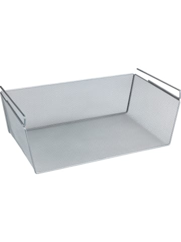 Wenko Regaleinhängekorb in Silber - (B)49 x (H)18 x (T)28 cm
