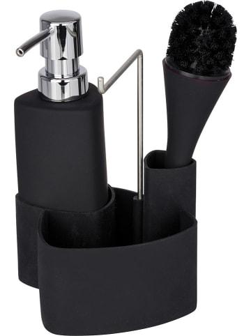 """Wenko Organizer """"Empire"""" w kolorze czarnym do mycia naczyń - 11 x 19 x 12,5 cm"""