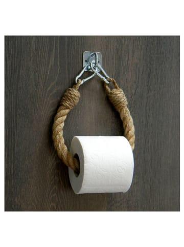 """Evila Toilettenpapierhalter """"Boru"""" in Natur - (B)12 x (H)38 x (T)3 cm"""