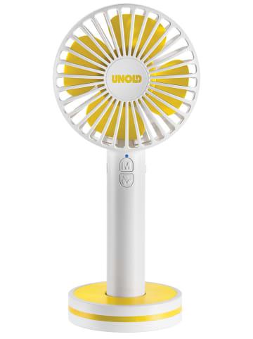 """Unold Wentylator ręczny """"Breezy"""" w kolorze biało-żółtym - wys. 20,5 cm"""