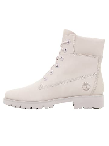 """Timberland Leder-Boots """"6-Inch Classic"""" in Beige/ Rosa - Weite M"""