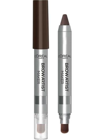 "L'Oréal Paris Sztyft 2w1 do brwi ""Brow Artist Maker - 04 Dark Foncé"" - 2 g"