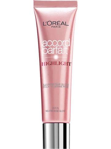"""L'Oréal Paris Highlighter """"Accord Parfait - 201 Rosy glow"""", 30 ml"""