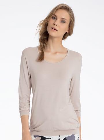 Calida Pyjama-Oberteil in Taupe