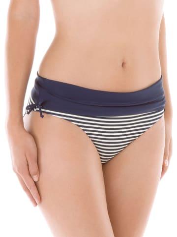 Calida Bikini-Hose in Dunkelblau/ Weiß