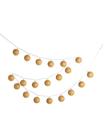"""Cotton Ball Lights Girlanda zewnętrzna """"Lubanida"""" w kolorze złotym - dł. 778 cm"""