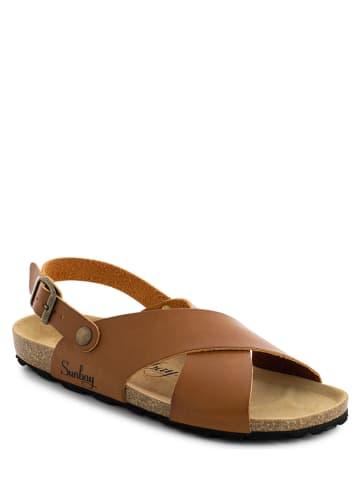 "Sunbay Leren sandalen ""Vidono"" lichtbruin"