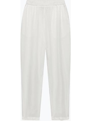 """American Vintage Lniane spodnie """"Ficobay"""" w kolorze białym"""
