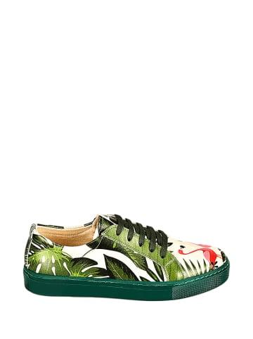 Streetfly Sneakers beige/groen