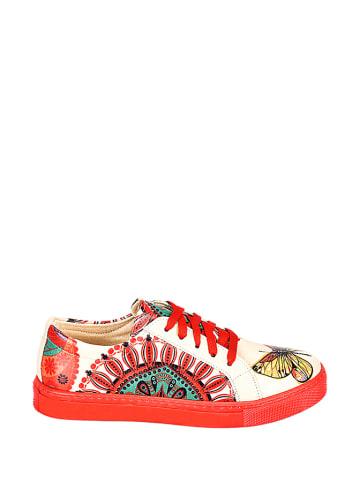 Streetfly Sneakers in Beige/ Rot
