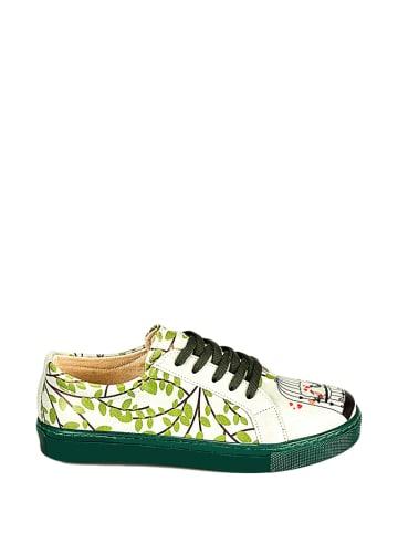 Streetfly Sneakersy w kolorze zielonym ze wzorerm