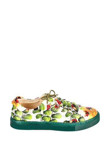 Streetfly Sneakers crème/groen