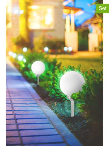 """Lumisky 2er-Set: LED-Solarleuchten """"Moony"""" in Weiß - (H)52 cm"""