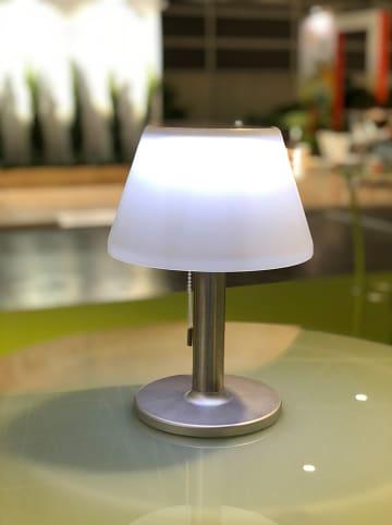 "Lumisky LED-Solarleuchte ""Lenny"" in Silber/ Weiß - (H)29 cm"