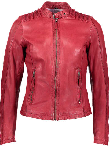 SURI FREY Skórzana kurtka w kolorze czerwonym