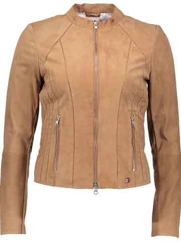SURI FREY Skórzana kurtka w kolorze jasnobrązowym