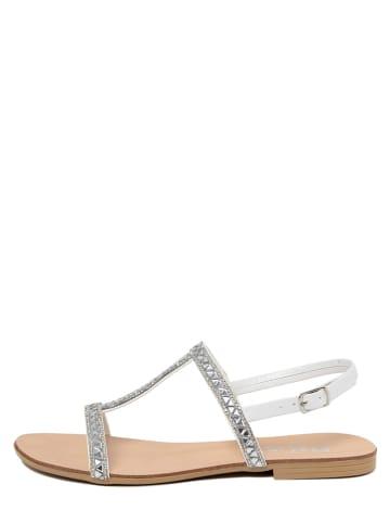 Mariella Sandalen in Silber/ Weiß