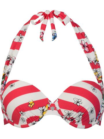 SHORT STORIES Biustonosz bikini w kolorze czerwono-białym