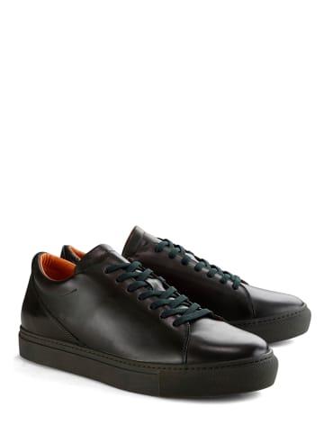 "DENBROECK Leren sneakers ""Broome St."" zwart"