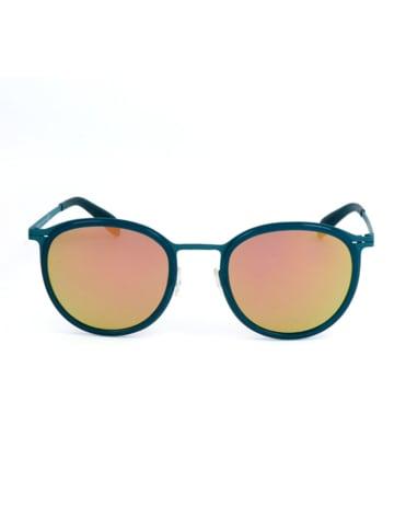 Calvin Klein Dameszonnebril petrol/groen-geel